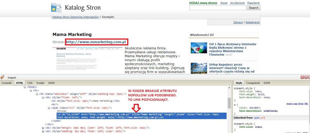link building co to jest link do strony